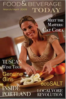 food and beverage magazine, cat cora, food and beverage today