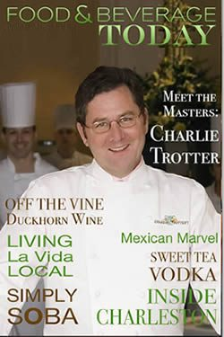 food and beverage magazine, may-june 2009, charlie trotter