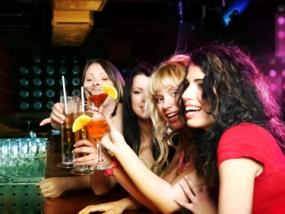 underground bar, girls at bar, bar, liquor
