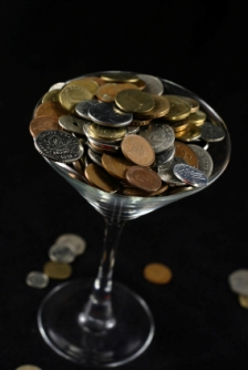 martini, beverage, glass, money, beverage cost