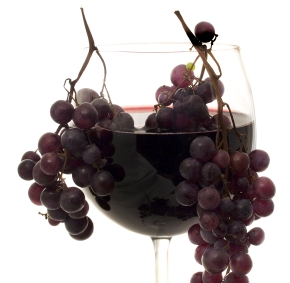 wine, glass with grapes, wineglass