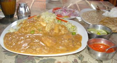 Carapulcra, dried potato stew, most popular in Chincha & Ica, at Peru's southern coast