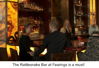 dallas restaurant, fearings restaurant, rattlesnake bar