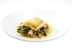 Chef Jack Yoss, Halibut, fish plate